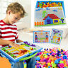New Children Kids Puzzle Peg Board With 296 Pegs Educational Toys Creative Gifts