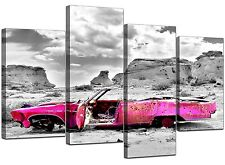 Large Pink Abstract Bedroom Canvas Wall Art Pictures Prints XL 4145