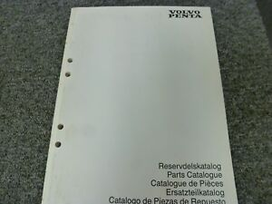 1994 Volvo Penta TAMD42B KAMD42B KAD42B Motor Parts Catalog Manual Pub 3418