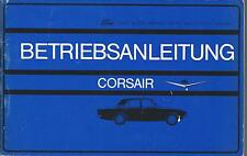 FORD CORSAIR Betriebsanleitung 1965 Bedienungsanleitung Handbuch Bordbuch BA