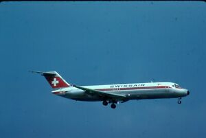 HB-IFS  SWISSAIR  DC-9-32  ORIGINAL COLORS   ORIGINAL KODAK SLIDE