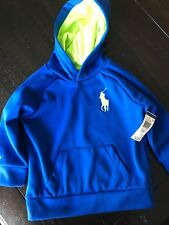 Polo Ralph Lauren Little Boy 2T Pullover Hoodie Athletic Blue Lime green Toddler
