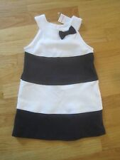 Toddler girl Gymboree DARK NAVY BLUE AND WHITE WIDE STRIPED DRESS NWT 3t