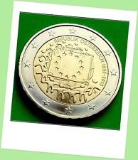 2 Euro Gedenkmünze Österreich 2015 - Gemeinschaftsausgabe 30 Jahre Europa Flagge