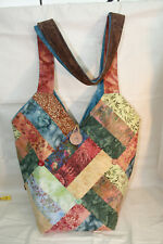 "Patchwork Bag Pattern- ""Cheryl's Diamond Bag"" using half a jelly roll."