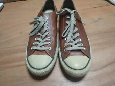 Converse All Star Brown Low Top Fashion Sneakers Mens 12 M Leather Shoes Classic