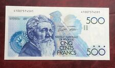 Belgique - Superbe billet de 500 Francs Meunier (1989-92)