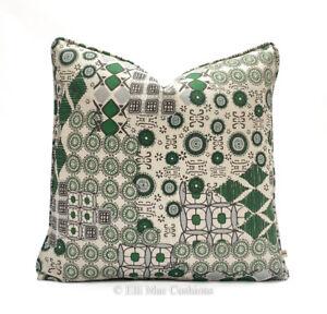 Martyn Lawrence Luxury Designer Geometric Green Fabric Cushion Pillow Cover