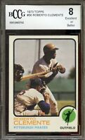 1973 Topps #50 Roberto Clemente Card BGS BCCG 8 Excellent+