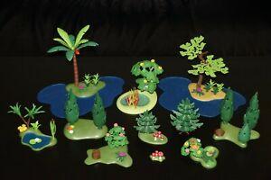 Playmobil® kleine Landschaft zur Auswahl Wasserstelle Tannenbaum Wald Pilze #D