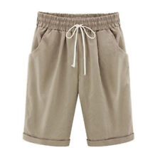 Womens Ladies Casual Loose Shorts Trousers Cropped Pants Summer Plus Size 6-22