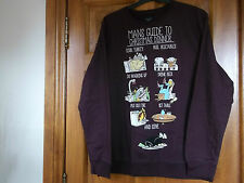 Christmas sweatshirt/jumper 'Mans Guide to Christmas Dinner' size XL Brand new
