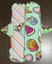 2 Long Cloth Pads Reusable Washable Printed Cotton Fabric 30cm 12 Inches Fun