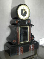 antique clock marbre century mounted marble red mantel for clock old french uhr