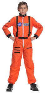 CHILD ASTRONAUT COSTUME JUMPSUIT KIDS NASA SHUTTLE PILOT SPACE SHIP CADET SUIT