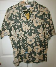Aloha Line Hawaii Island Design Hawaiian Shirt XL Made in USA Great Quality EUC