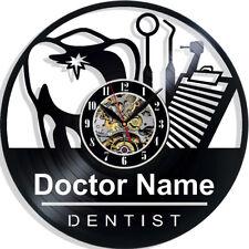 Custom Stomatology Doctor Dentist Name Art Vinyl Wall Clock Room Decor