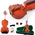 Glarry 4/4 Maple Natural Violin Fiddle + Case+ Bow+ Shoulder Rest +Tuner+ Rosin for sale