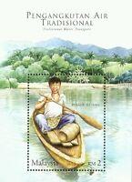 Traditional Water Transport Malaysia 2005 Boat Children Lake Mountain (ms) MNH