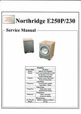 JBL  service manual  für E250 P / 230 Northridge  subwoofer  Copy