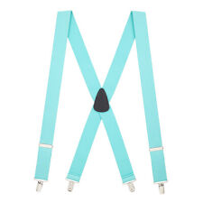 Solid Color CLIP Suspenders - 1.5-Inch Wide (4 sizes, 18 colors)