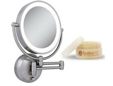 Zadro LEDW410 LED Lighted Wall Mounted Mirror Cuccio Milk & Honey Body Butter