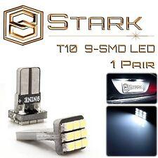 2x White 168 194 2825 9-SMD LED Bulbs for License Plate Lights - Volt