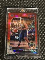 2019-2020 Hoops Premium Stock Zion Williamson Red Cracked Ice Prizm SP RC Rookie