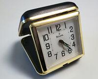 BULOVA Travel Clock--Wind Up Alarm Clock Black B6112  Free shipping
