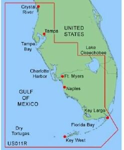 GARMIN BLUECHART SOUTHWEST FLORIDA MUS011R DATA CARD MARINE CHART MAP CHIP