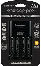 Panasonic Eneloop Pro Rechargeable AA Ni-MH Batteries with Battery Charger Black