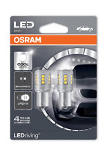 Osram LED Cool White 6000K Bulbs P21W 382 BA15s Bayonet Clear Glass 7456CW-02B