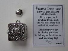 p Dreams Come True PRAYER BOX CHARM keepsake heart love memorial pendant ganz