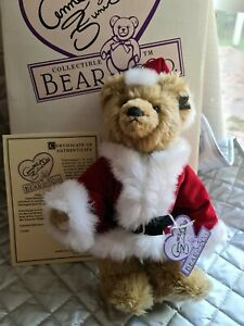 """Annette Funicello Bear Guisseppe Santa 11"""" Limited Edition Mohair Bear 316/2500"""