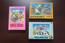 Famicom FC Super Mario Bros 1 USA 3 I III Boxed Japan game US Seller