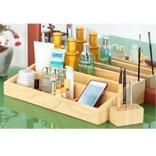 [Made In Korea] Pine solid wood 3 layer Cosmetic Organizer Box Makeup bag case