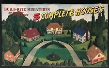 """1940s BUILT-RITE """"5 COMPLETE HOUSES"""" #55 IN BOX - PLAYSET WARREN PAPER PRODUCTS"""