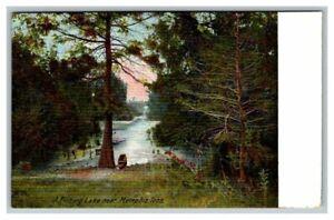 Postcard A Fishing Lake near Memphis, TN Tenn. Tennessee Unposted