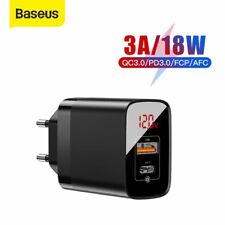 Baseus 18W PD QC 3.0 USB Type C Wall Charger Fast Charging Adapter EU US UK Plug