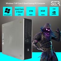 Windows 7 HP Core 2 Quad Gaming PC Computer - 8GB RAM - 1000GB HDD - HDMI Wi-Fi