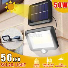 2200mAh 50W LED Lampione Stradale Faro Pannello Solare Sensore Luce Telecomando