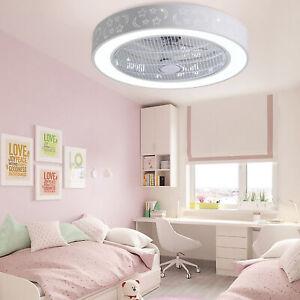 """21.7"""" Modern Chandelier LED Ceiling Fan Light Adjust 3 Speed + Warm & Cool Light"""