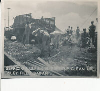 1944 WWII USAAF Photo APO 244 Saipan Japanese POWs clean up at Isley Field