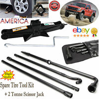 For Ford F150 (2004-14 ) Spare Tire Tool Kit  Lug Wrench With 2 Ton Scissor Jack
