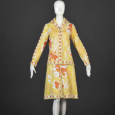 S Vintage 1960s 60s Emilio Pucci 2 Piece Cotton Set Tunic Top Skirt Separates