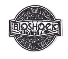 BIOSHOCK BLACK IRON ON / SEW ON PATCH Embroidered VIDEO GAME PT162