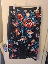 BNWT Size 24 Yours Black/Orange/Green/Red Flowery Summer Skirt