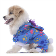 Warm Pet Dog Clothing Jumpsuit Winter Soft Fleece Small Medium Dog Hoodie Coat