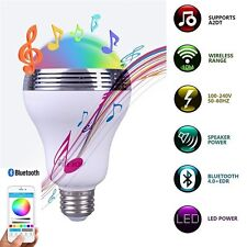 5W E27 Bluetooth4.0 Music Audio Speaker LED RGB Color Bulb Lamp APP Contro