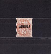 timbre France  type Blanc 3c  surchargé Annulé     NUM: 109-CI   *